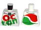 Part No: 973pb2306  Name: Torso Octan Logo Race Suit with Silver Zipper Pattern