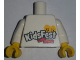 Part No: 973pb2322c01  Name: Torso LEGO KidsFest 2 Minifigure Heads and 2 Red Bricks Pattern / White Arms / Yellow Hands
