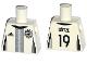Part No: 973pb2383  Name: Torso Soccer Shirt with adidas Logo, 4 Stars and Eagle Front, 'GÖTZE 19' Back Pattern