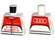 Part No: 973pb2441  Name: Torso Race Suit with Audi Logo, 'Audi Sport e-tron quattro' on Front and Audi Logo on Back Pattern