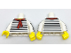 Part No: 973pb2699c01  Name: Torso Black Thin Stripes, Red Scarf Front and Back Pattern / White Arms with Black Thin Stripes Pattern / Yellow Hands