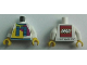 Part No: 973pb2855c01  Name: Torso LEGO World The Netherlands 2017 with Number 17 Pattern / White Arms / Yellow Hands