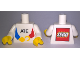 Part No: 973pb2906c01  Name: Torso with 'ATE' and Lego Logo on Back Pattern / White Arms / Yellow Hands