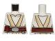 Part No: 973pb2960  Name: Torso SW White and Tan Jedi Robe with Reddish Brown Belt Pattern (Luke Skywalker)