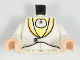 Part No: 973pb2973c01  Name: Torso Tuxedo with Light Yellow and Light Orange Trim Pattern / White Arms / Light Flesh Hands