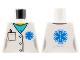 Part No: 973pb3140  Name: Torso Hospital Lab Coat, Medium Azure Scrubs, Blue EMT Star of Life, Pocket with Pen Pattern