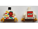 Part No: 973pb3353c01  Name: Torso LEGO World The Netherlands 2018 with Award Ribbon with Number 18 Pattern / White Arms / Yellow Hands