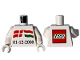 Part No: 973pb3446c01  Name: Torso LEGO Nyíregyháza '01-12-2008' with Danish and Hungarian Flag Pattern / White Arms / White Hands