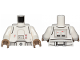 Part No: 973pb3504c01  Name: Torso SW Armor Snowtrooper with Printed Back Pattern 2 / White Arms / Dark Tan Hands