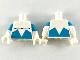Part No: 973pb3526c01  Name: Torso Black Muscle Contour with Medium Azure Angular Lower Panels Pattern / White Arms with Medium Azure Short Sleeves Pattern / White Hands