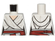 Part No: 973pb3681  Name: Torso SW Female Outline, White Tied Robe, Dark Red Belt Pattern