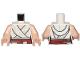 Part No: 973pb3681c01  Name: Torso SW Female Outline, White Tied Robe, Dark Red Belt Pattern / Light Nougat Arms / Light Nougat Hands