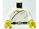 Part No: 973ps3c01  Name: Torso SW Wrap-Around Tunic and Utility Belt Pattern / White Arms / Yellow Hands