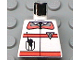 Part No: 973px101  Name: Torso Res-Q Orange Stripes, Radio in Pocket, Back Logo Pattern