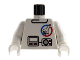 Part No: 973px113c01  Name: Torso Launch Command Logo, Gray Equipment Pattern / White Arms / White Hands