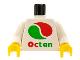 Part No: 973px130c01  Name: Torso Octan Logo Pattern / White Arms / Yellow Hands