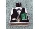 Part No: 973px163  Name: Torso Western Black Vest, Gold Fob and $100 Bills Pattern (Banker)