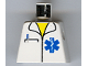 Part No: 973px168  Name: Torso Hospital EMT Star of Life, Open Collar, Pocket Pen Pattern