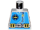 Part No: 973px170  Name: Torso Aquazone Aquanaut Sub Logo, Zipper, and Weight Belt Pattern