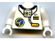 Part No: 973px176c01  Name: Torso Space Port Logo, Tube and 'C1' with Two Yellow Bars Pattern / White Arms / White Hands
