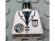 Part No: 973px24  Name: Torso Space Port Logo Lab Coat, Tie and Pocket Pattern