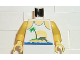 Part No: 973px34c01  Name: Torso Paradisa Tank Top, Palm Tree and Dolphin Pattern / Yellow Arms / Yellow Hands