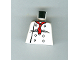 Part No: 973px4  Name: Torso Chef with 8 Buttons, Long Red Neckerchief, Black Wrinkles Pattern