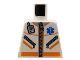 Part No: 973px500  Name: Torso Hospital EMT Star of Life, Zipper, Zippered Pockets, Radio Pattern