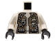 Part No: 973px80c01  Name: Torso Space LoM Spacesuit with '7401' Pattern / White Arms / Black Hands