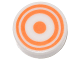 Part No: 98138pb061  Name: Tile, Round 1 x 1 with Concentric Orange Circles Pattern