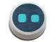 Part No: 98138pb108  Name: Tile, Round 1 x 1 with Medium Azure Eyes on Dark Blue Background Pattern