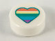 Part No: 98138pb139  Name: Tile, Round 1 x 1 with Heart with Pastel Rainbow Stripes Pattern