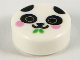 Part No: 98138pb157  Name: Tile, Round 1 x 1 with Panda Face with Bright Pink Cheeks and Bright Green Bamboo Pattern