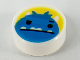 Part No: 98138pb160  Name: Tile, Round 1 x 1 with Blue Monster Face on Yellow Background Pattern