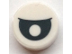 Part No: 98138pb183  Name: Tile Round 1 x 1 with Black Eye with Pupil Centered Partially Closed Pattern