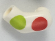 Part No: 981pb143  Name: Arm, Left with Large Red and Lime Polka Dots Pattern