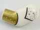 Part No: 981pb162  Name: Arm, Left with Silver Dots and Gold Cuff Pattern