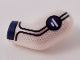 Part No: 981pb187  Name: Arm, Left with Dark Blue Cuff, Water Symbol, Silver Trim Pattern