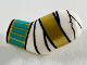 Part No: 981pb216  Name: Arm, Left with Wrappings, Gold and Dark Turquoise Bracelets Pattern