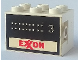 Part No: BA001pb03  Name: Stickered Assembly 3 x 2 x 1 2/3 with Exxon Tank Number 3 on Both Sides Pattern (Stickers) - Set 6375-2