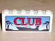Part No: BA003pb01  Name: Stickered Assembly 6 x 1 x 2 with 'CLUB' Boat Logo Pattern (Sticker) - Set 6543 - 2 Bricks 1 x 6