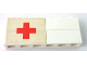 Part No: BA003pb13L  Name: Stickered Assembly 6 x 1 x 2 with Red Cross on White Background Pattern Model Left Side (Sticker) - Sets 363-1 / 555-1 - 2 Bricks 1 x 6