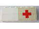 Part No: BA003pb13R  Name: Stickered Assembly 6 x 1 x 2 with Red Cross on White Background Pattern Model Right Side (Sticker) - Sets 363-1 / 555-1 - 2 Bricks 1 x 6