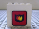 Part No: BA006pb06  Name: Stickered Assembly 4 x 1 x 3 with Fire Logo Badge Pattern (Sticker) - Set 6571 - 3 Bricks 1 x 4