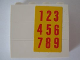 Part No: BA006pb08  Name: Stickered Assembly 4 x 1 x 3 with '123456789' Pattern (Sticker) - Set 5235-2 - 3 Bricks 1 x 4