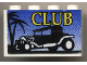 Part No: BA008pb01  Name: Stickered Assembly 4 x 1 x 2 with 'CLUB' Hot Rod Logo Pattern (Sticker) - Set 6561 - 2 Bricks 1 x 4
