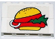 Part No: BA008pb02  Name: Stickered Assembly 4 x 1 x 2 with Hamburger Pattern (Sticker) - Sets 6399 / 6683 - 2 Bricks 1 x 4