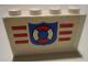 Part No: BA008pb09  Name: Stickered Assembly 4 x 1 x 2 with Coast Guard Pattern (Sticker) - Set 6334 - 2 Bricks 1 x 4