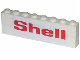 Part No: BA009pb11  Name: Stickered Assembly 8 x 1 x 2 with 'Shell' Small Pattern on Both Sides (Stickers) - Set 377-1 - 2 Bricks 1 x 8