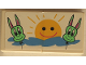 Part No: BA013pb03  Name: Stickered Assembly 2 x 4 with Green Monster Balloons with Yellow Sun Pattern (Sticker) - Set 6547 - 2 Tiles 2 x 2